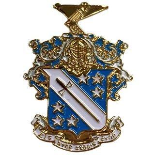 Phi Delta Theta Color Crest - Shield Pins