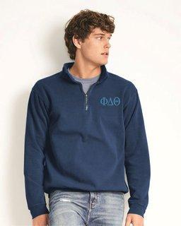 Phi Delta Theta Comfort Colors Garment-Dyed Quarter Zip Sweatshirt