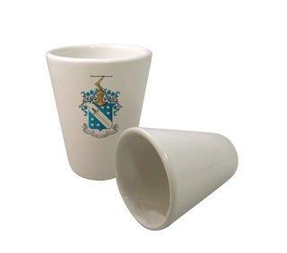 Phi Delta Theta Crest Ceramic Collectors Glass