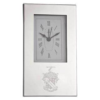 Phi Delta Theta Crest Desk Clock