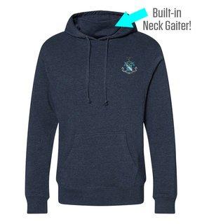 Phi Delta Theta Crest Gaiter Fleece Hooded Sweatshirt