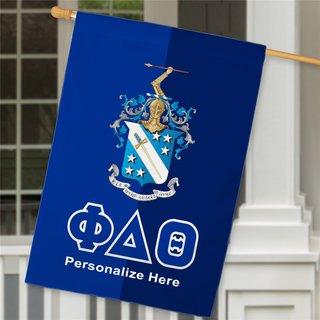 Phi Delta Theta Crest House Flag