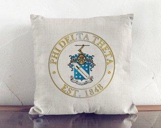 Phi Delta Theta Crest Linen Pillow