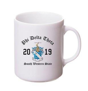 Phi Delta Theta Crest & Year Ceramic Mug