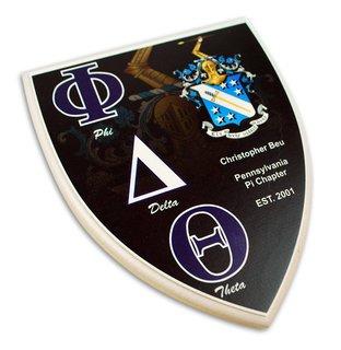 Phi Delta Theta Custom Fraternity Shield