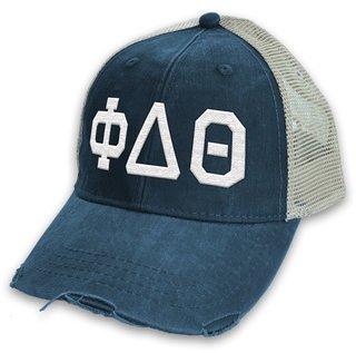 Phi Delta Theta Distressed Trucker Hat