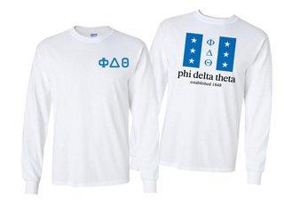 Phi Delta Theta Flag Long Sleeve T-shirt