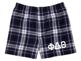 Phi Delta Theta Flannel Boxer Shorts