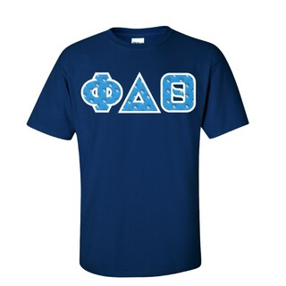 Phi Delta Theta Fraternity Crest - Shield Twill Letter Tee