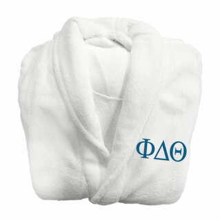 Phi Delta Theta Fraternity Lettered Bathrobe