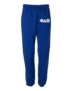 Phi Delta Theta Greek Lettered Thigh Sweatpants