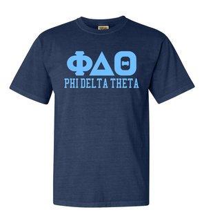 Phi Delta Theta Greek Custom Comfort Colors Heavyweight T-Shirt