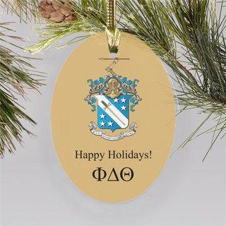 Phi Delta Theta Holiday Color Crest - Shield Ornament