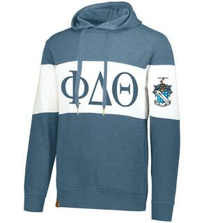 Phi Delta Theta Ivy League Hoodie W Crest On Left Sleeve