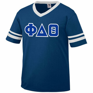 DISCOUNT-Phi Delta Theta Jersey With Greek Applique Letters