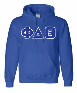 Phi Delta Theta Lettered Greek Hoodie- MADE FAST!