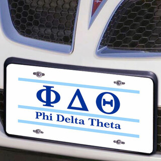 Phi Delta Theta Lettered Lines License Cover