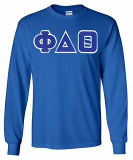 Phi Delta Theta Lettered Long Sleeve Tee- MADE FAST!