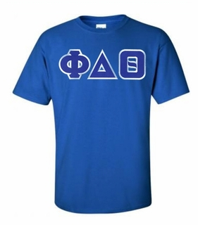 Phi Delta Theta Lettered T-shirt - MADE FAST!