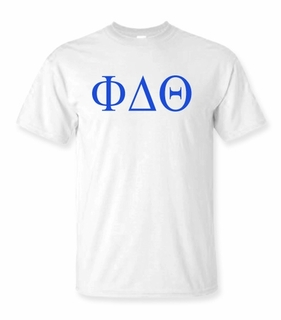 Phi Delta Theta Lettered Tee - $9.95! - MADE FAST!