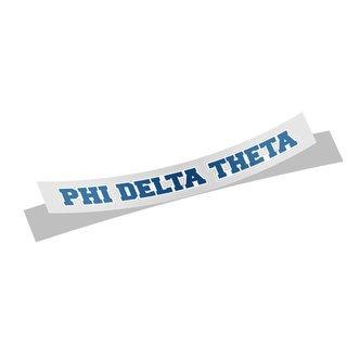 Phi Delta Theta Long Window Sticker