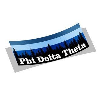Phi Delta Theta Mountain Decal Sticker