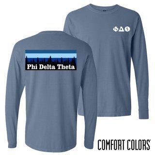 Phi Delta Theta Outdoor Long Sleeve T-shirt - Comfort Colors