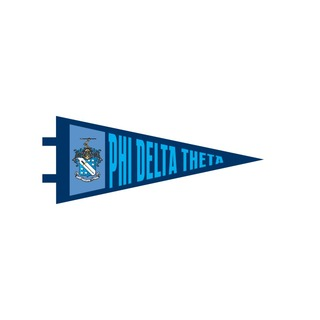 """Phi Delta Theta Pennant Decal 4"""" Wide"""