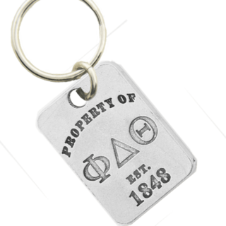 Phi Delta Theta Property of Tag Keychain - CLOSEOUT