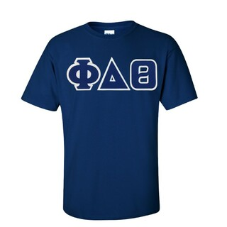 Phi Delta Theta Sewn Lettered T-shirt - SPECIAL SALE!