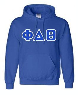 Phi Delta Theta Sewn Lettered Sweatshirts