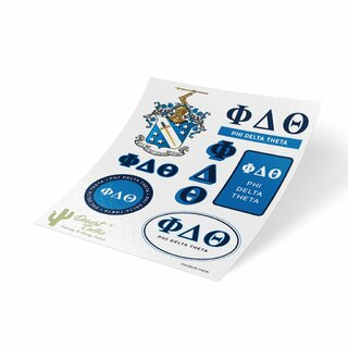 Phi Delta Theta Traditional Sticker Sheet