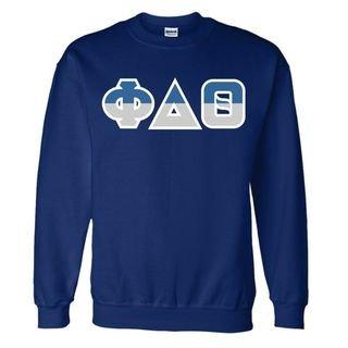 Phi Delta Theta Two Tone Greek Lettered Crewneck Sweatshirt