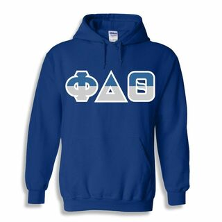Phi Delta Theta Two Tone Greek Lettered Hooded Sweatshirt