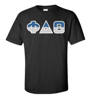 Phi Delta Theta Two Tone Greek Lettered T-Shirt
