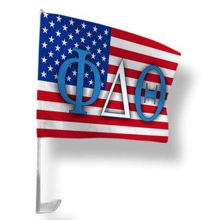 Phi Delta Theta USA Car Flag