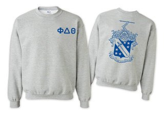 Phi Delta Theta World Famous Crest - Shield Printed Crewneck Sweatshirt- $25!
