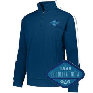 DISCOUNT-Phi Delta Theta Woven Emblem Greek Medalist Pullover
