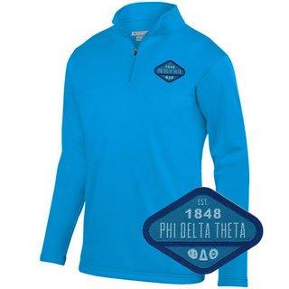 DISCOUNT-Phi Delta Theta Woven Emblem Wicking Fleece Pullover