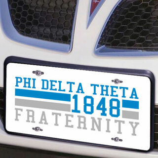 Phi Delta Theta Year License Plate Cover