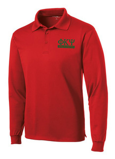 Phi Kappa Psi- $30 World Famous Long Sleeve Dry Fit Polo