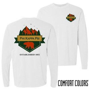 Phi Kappa Psi Big Bear Long Sleeve T-shirt - Comfort Colors