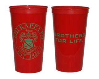 Phi Kappa Psi Big Plastic Stadium Cup