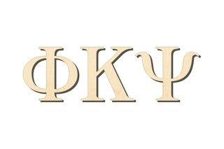 Phi Kappa Psi Big Wooden Greek Letters