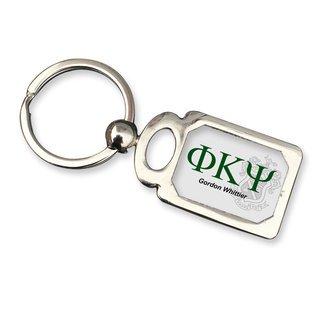 Phi Kappa Psi Chrome Crest Key Chain