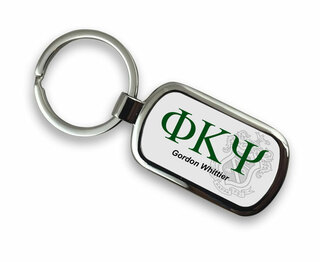 Phi Kappa Psi Chrome Crest - Shield Key Chain