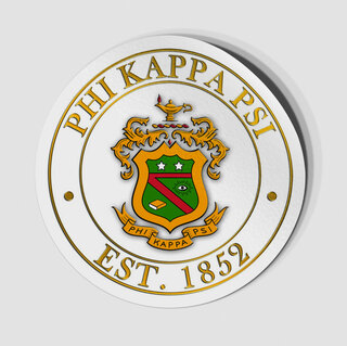 Phi Kappa Psi Circle Crest - Shield Decal
