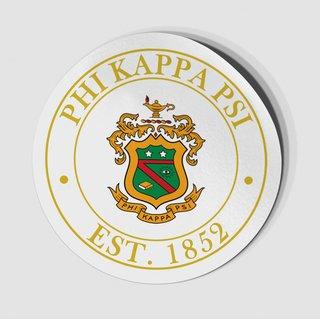 Phi Kappa Psi Circle Crest - Shield Decal