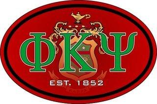 Phi Kappa Psi Color Oval Decal
