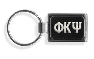 Phi Kappa Psi Engraved Chrome Keychains